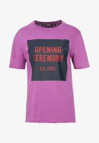Opening Ceremony - BOX LOGO TEE - T-shirts print - hyacinth - 3