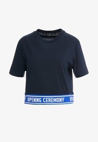 Opening Ceremony - CROPPED LOGO TEE - T-shirts print - collegiate navy - 4