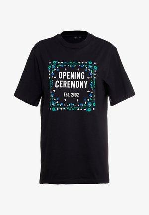 BANDANA BOX TEE - Print T-shirt - black
