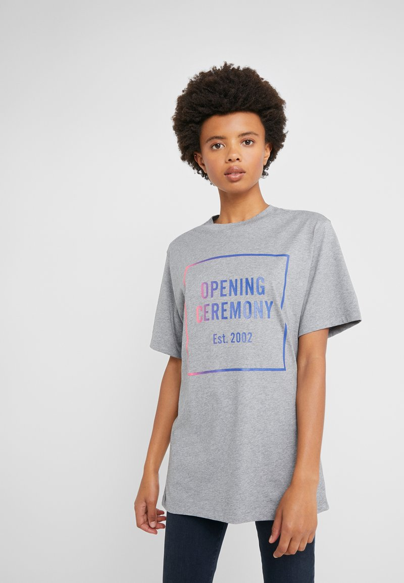 Opening Ceremony - OMBRE BOX LOGO TEE - T-Shirt print - heather grey