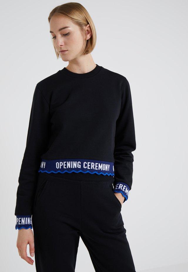SCALLOP LOGO CROP - Sweatshirt - black