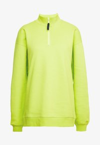 Opening Ceremony - UNISEX BACK ZIP - Sweatshirt - fluorescent yellow - 4