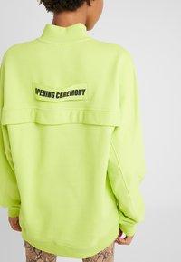 Opening Ceremony - UNISEX BACK ZIP - Sweatshirt - fluorescent yellow - 5