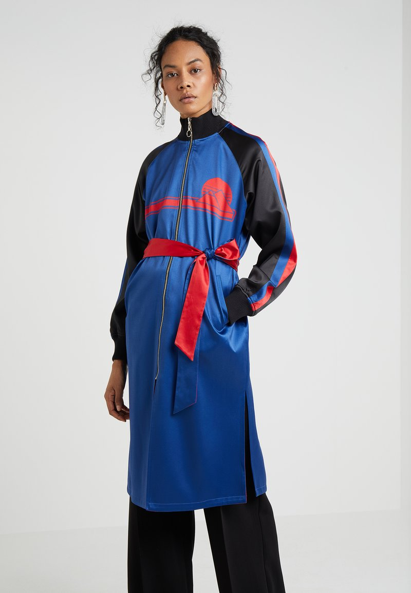 Opening Ceremony - GRAPHIC LONG SOUVENIR JACKET - Classic coat - pacific