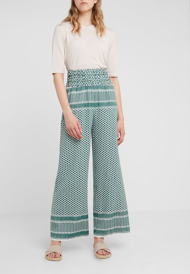 CECILIE copenhagen - BASIC TROUSERS - Trousers - pepper
