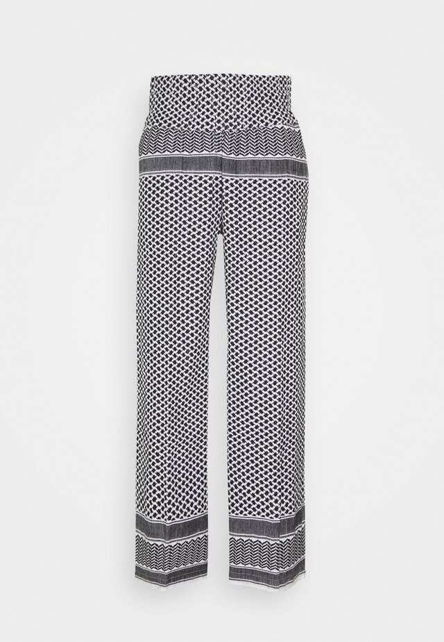 BASIC TROUSERS - Broek - black/white