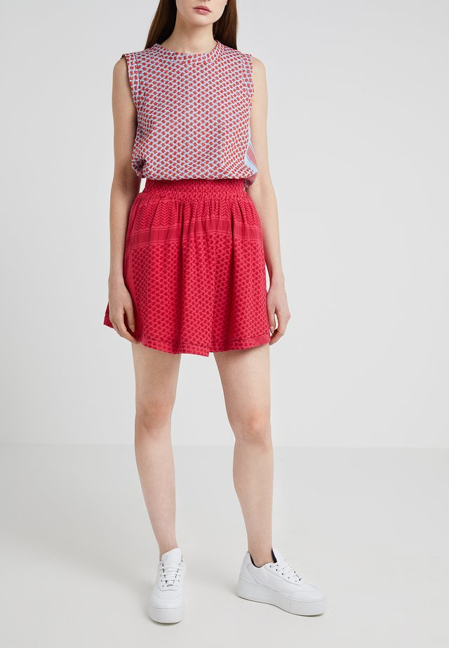 SKIRT - Mini skirt - berry