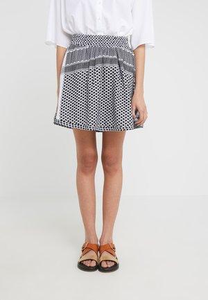 SKIRT - Mini skirt - white/black
