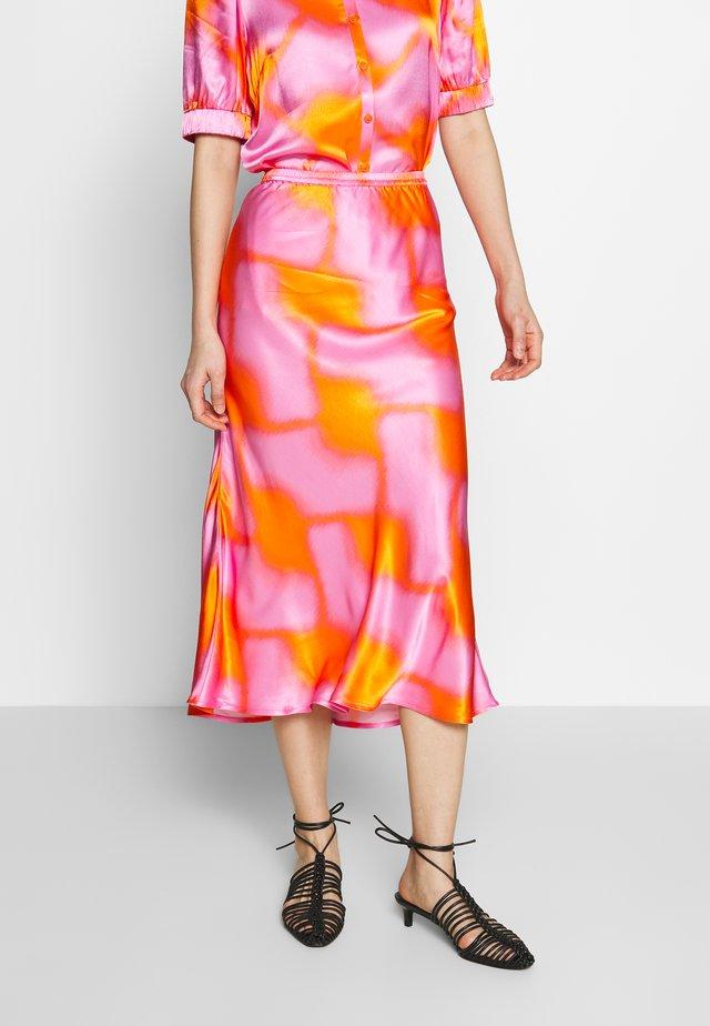 GYRITH - A-line skirt - tangerine