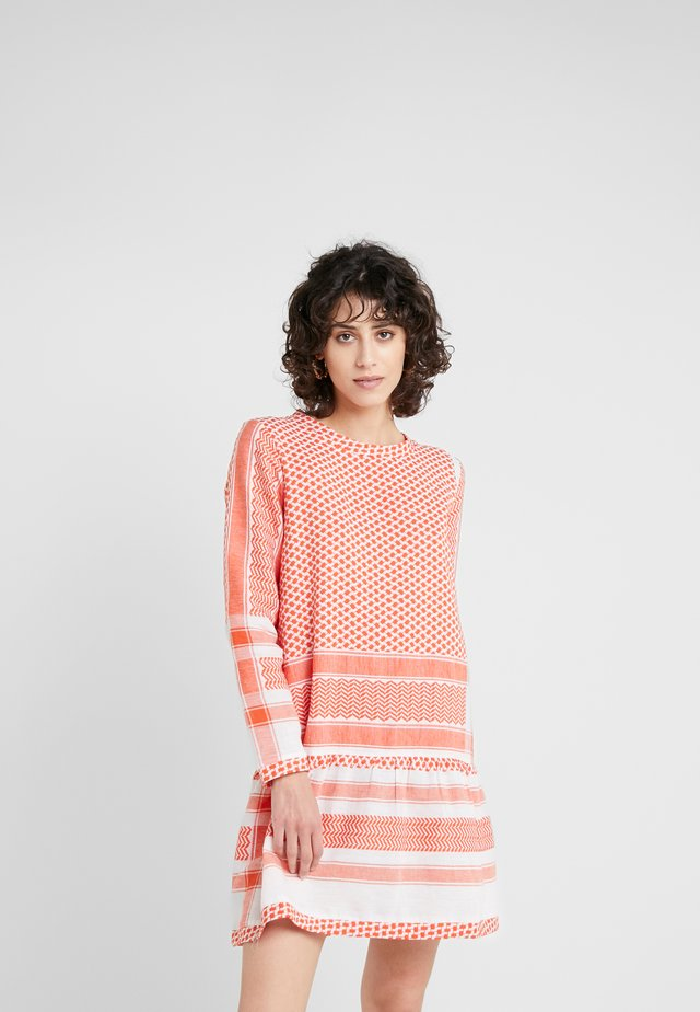 DRESS - Day dress - coral