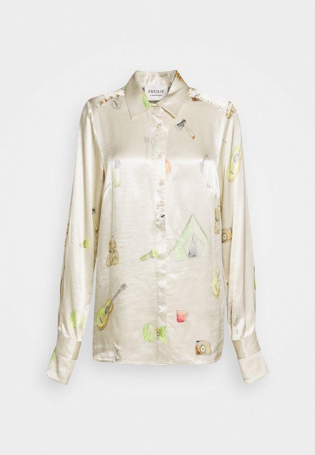 COURTNEY - Button-down blouse - cream