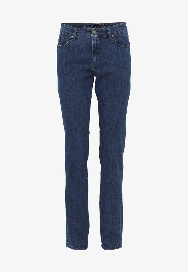 CERO & ETAGE PANTS - Kangashousut - medium blue denim
