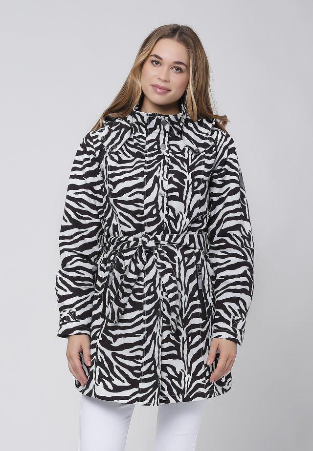 Waterproof jacket - black/white