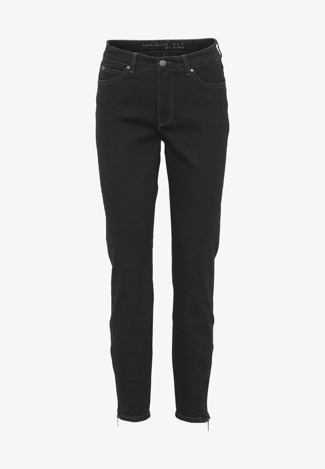 CERO & ETAGE PANTS - Slim fit -farkut - black denim