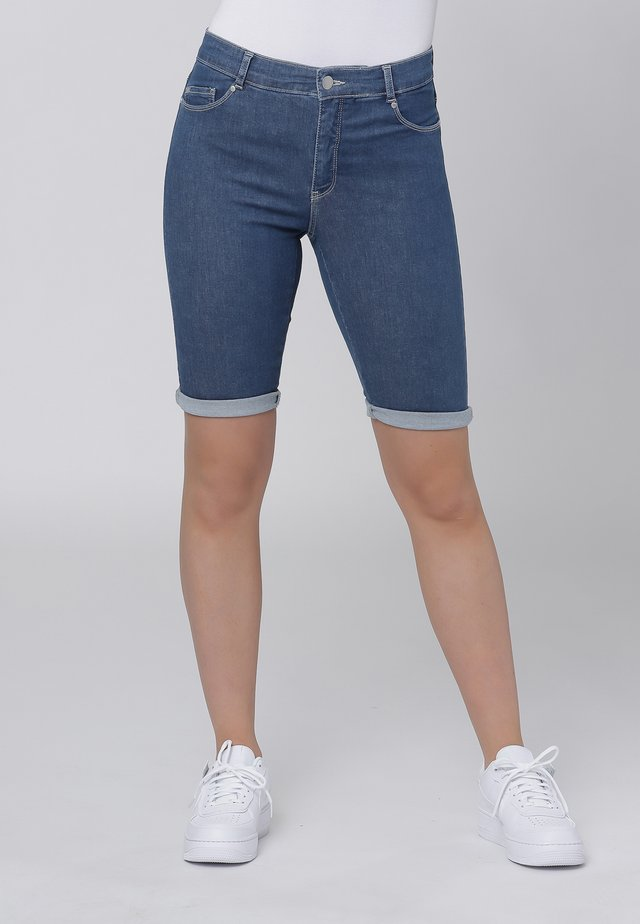 Farkkushortsit - medium blue denim