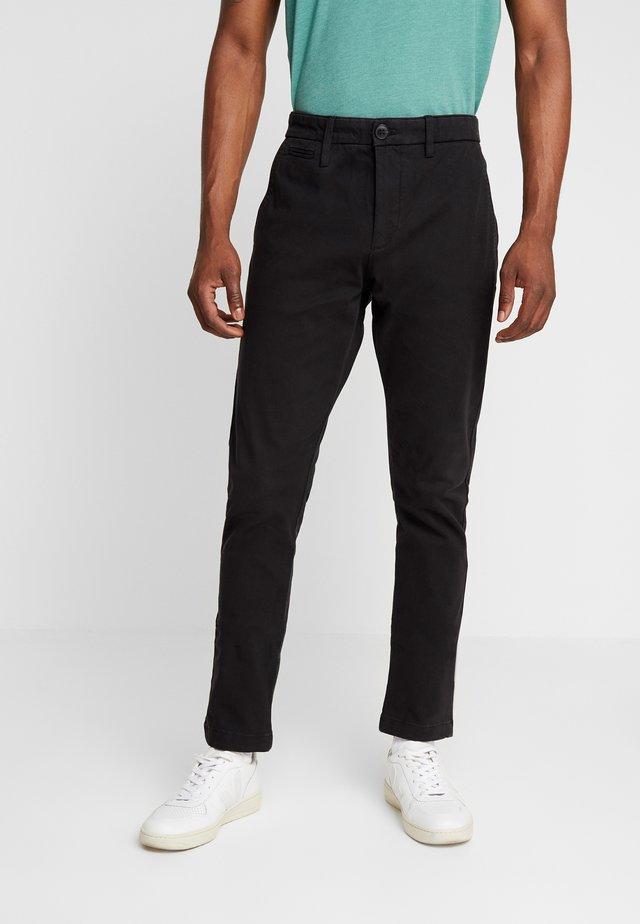 POBOBBY - Chino kalhoty - noir