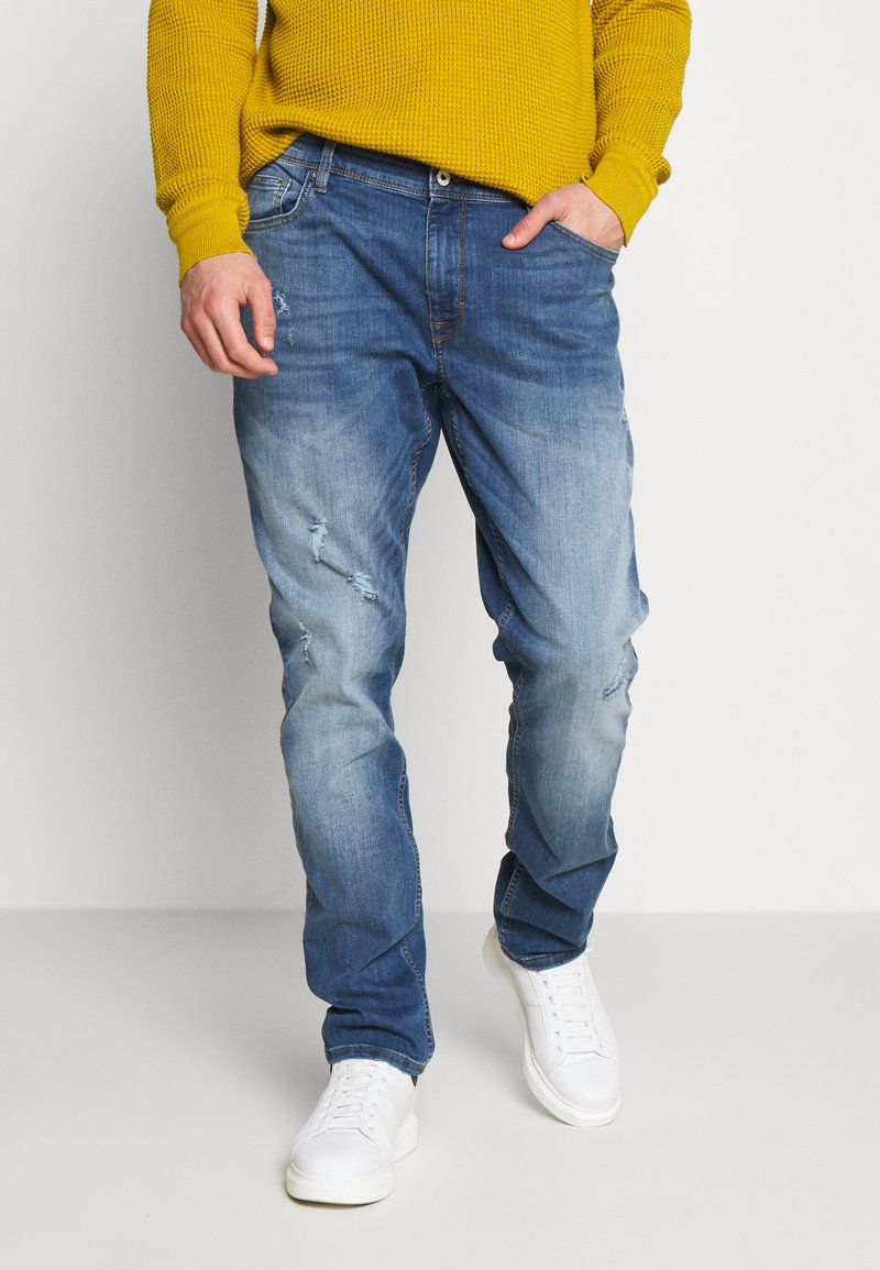 CELIO - ROPATCH - Jeans Slim Fit - blue