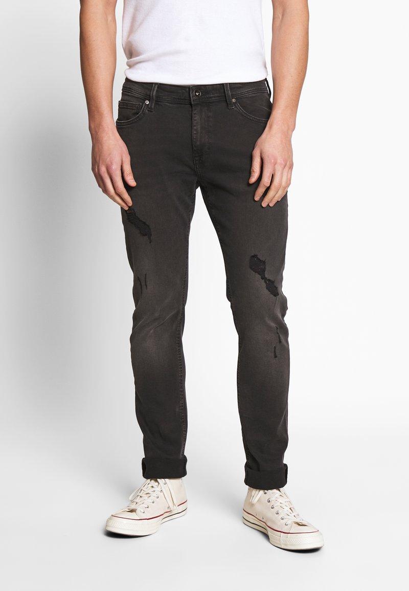 CELIO - ROSTROY - Slim fit jeans - noir