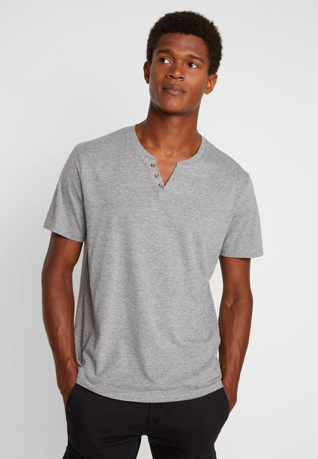 NEBET - T-shirt basic - gris chine