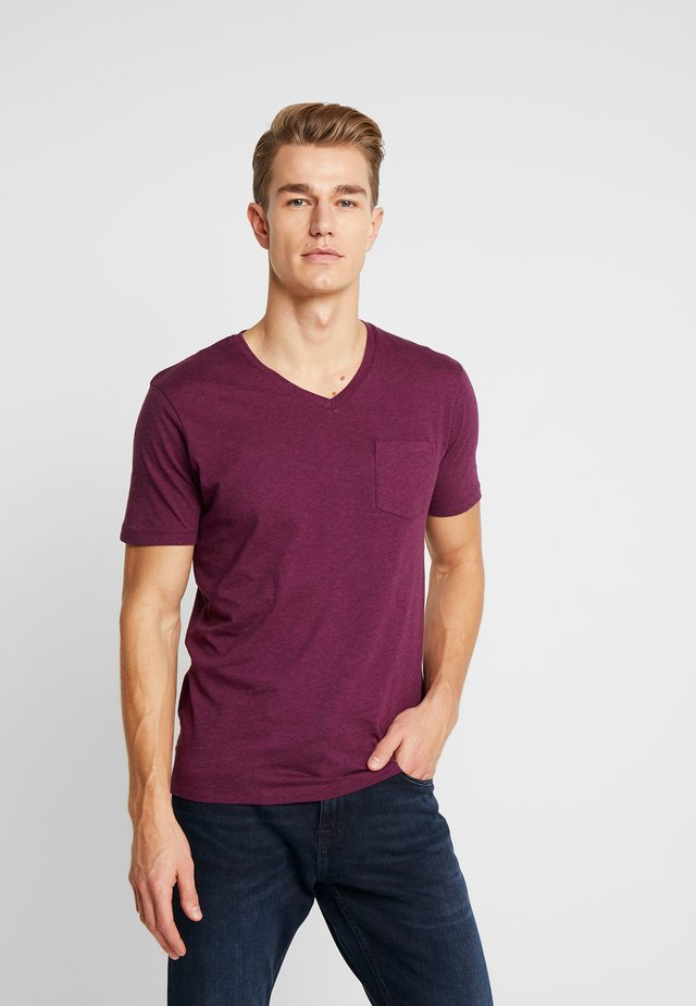 T-shirt basic - heather purple