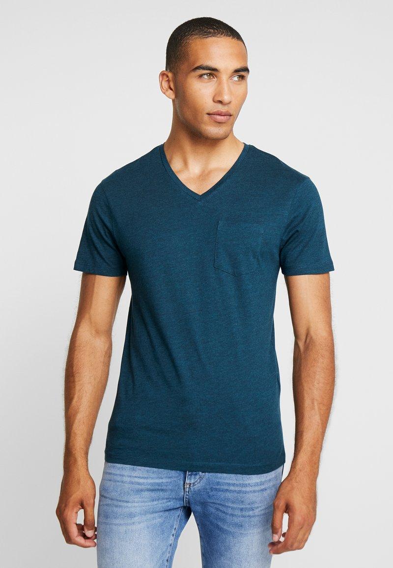 CELIO - PEBASIC - Basic T-shirt - green melange