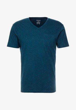 T-shirts basic - green melange