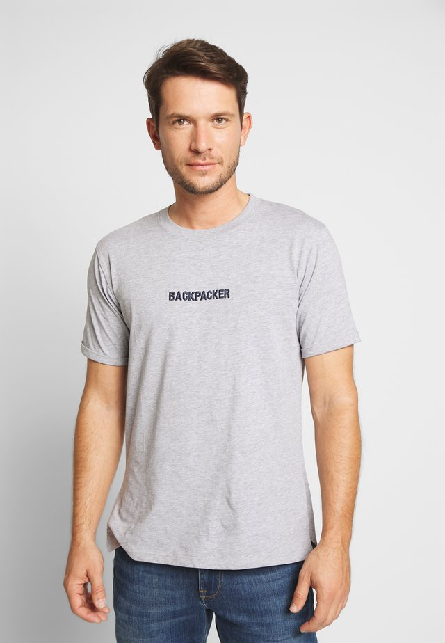 RETEXT - Print T-shirt - heather grey