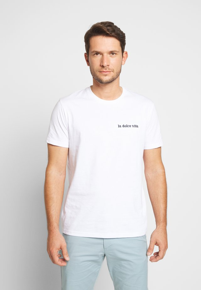REDOLCE - T-shirt z nadrukiem - optical white