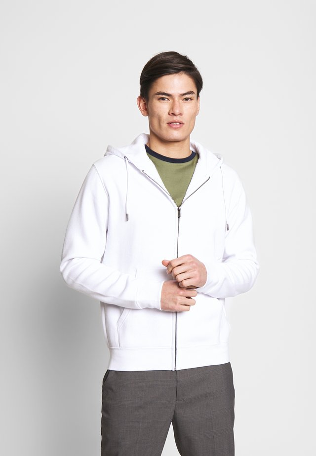 RETHREE - Zip-up hoodie - optical white