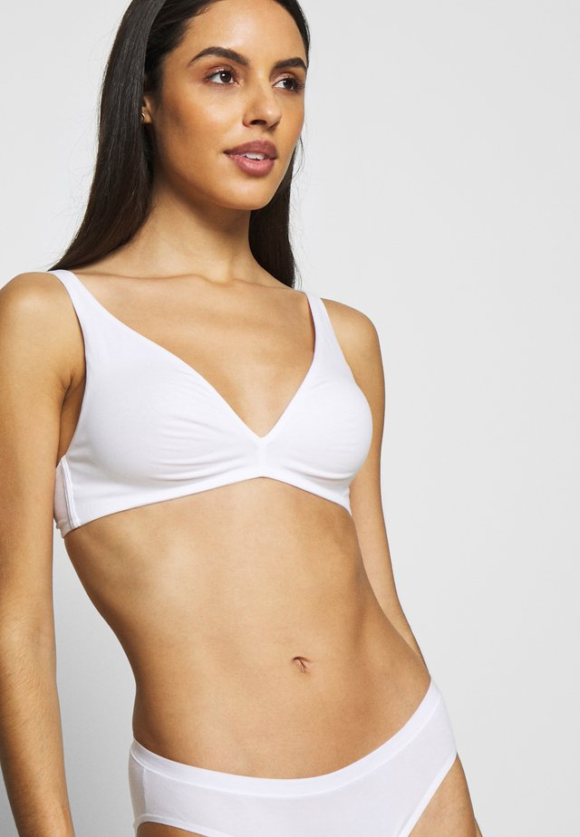 SOFT - Triangle bra - white