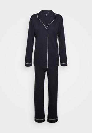 NIGHT LOVERS SET - Pyžamo - dark lapis blue