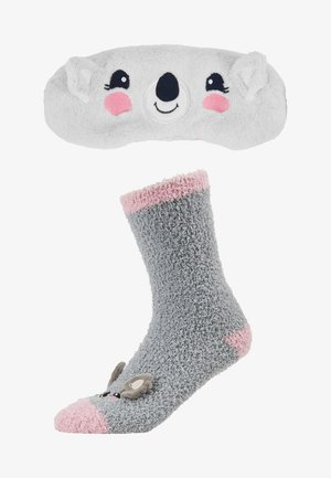 KOALA FLUFFY EYE MASK SET - Chaussettes - grey