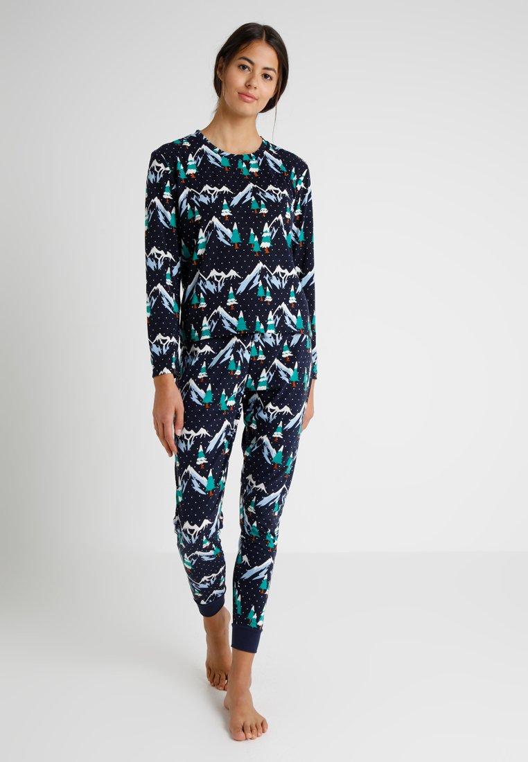 Chelsea Peers - SNOWY MOUNTAIN SET - Pyjama - navy/multi
