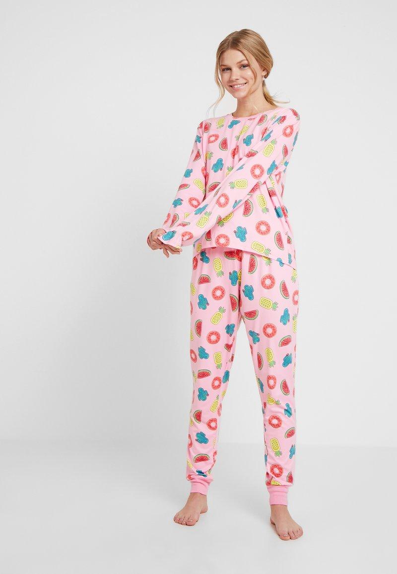Chelsea Peers - INFLATABLE LONG SET - Pyjamas - pink