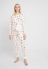 Chelsea Peers - FLAMINGOS - Pyjamas - white/rose gold - 1