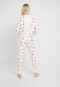 Chelsea Peers - FLAMINGOS - Pyjamas - white/rose gold
