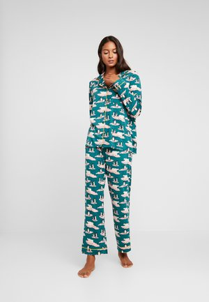 PENGUIN AND POLAR BEAR LONG SET - Pyjamas - green