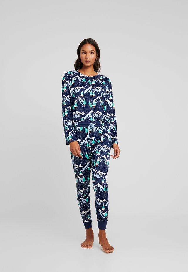 SNOWY MOUNTAIN LONG SET - Pyjama set - navy