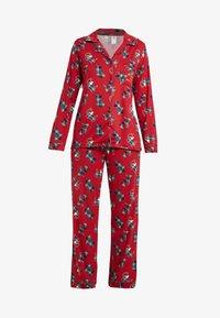Chelsea Peers - TARTAN SCOTTY DOG LONG SET - Pyžamová sada - burgandy - 3