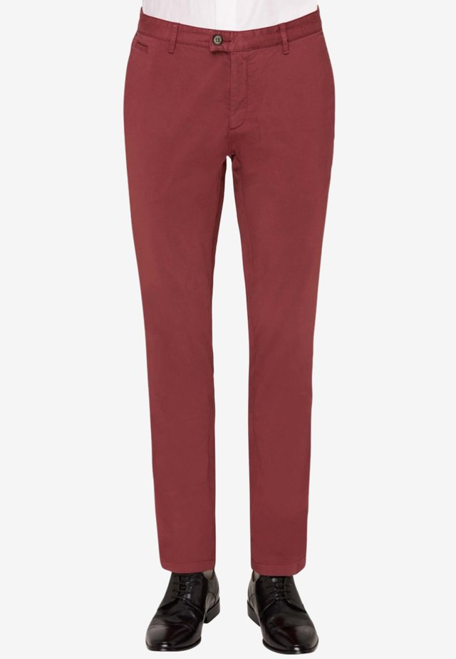 RENE - Suit trousers - red