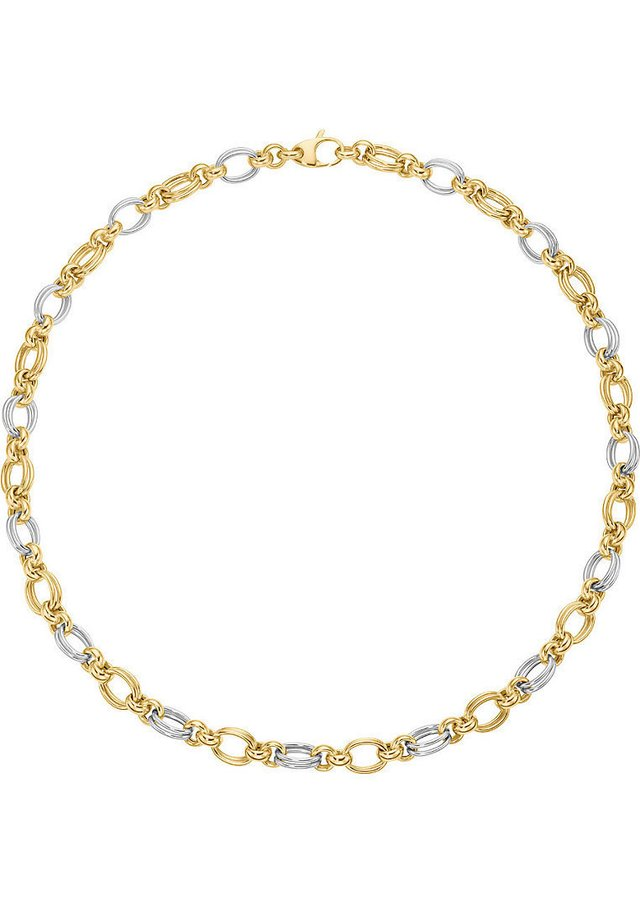 Halskette - bicolor/silber/gold