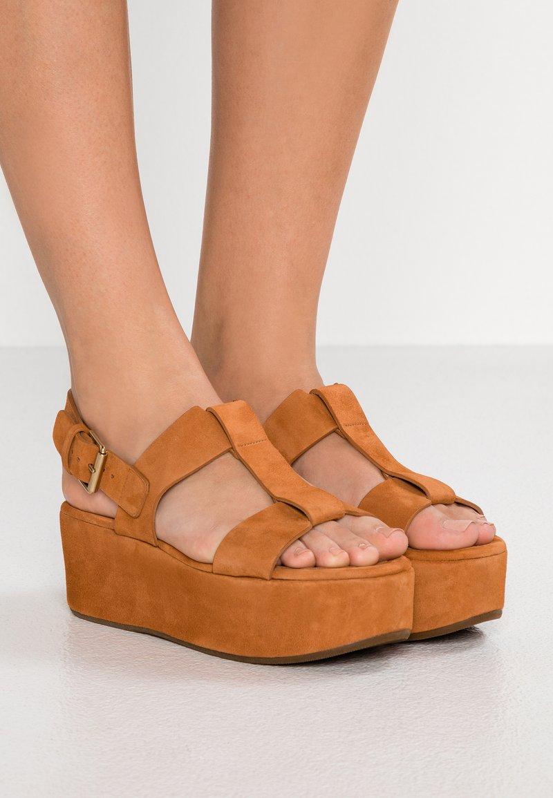 Chie Mihara - OLIVIA - Platform sandals - biscuit