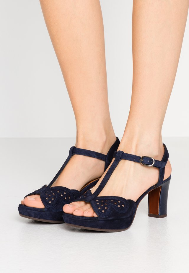 NOMIL - Platform sandals - nuit/navy