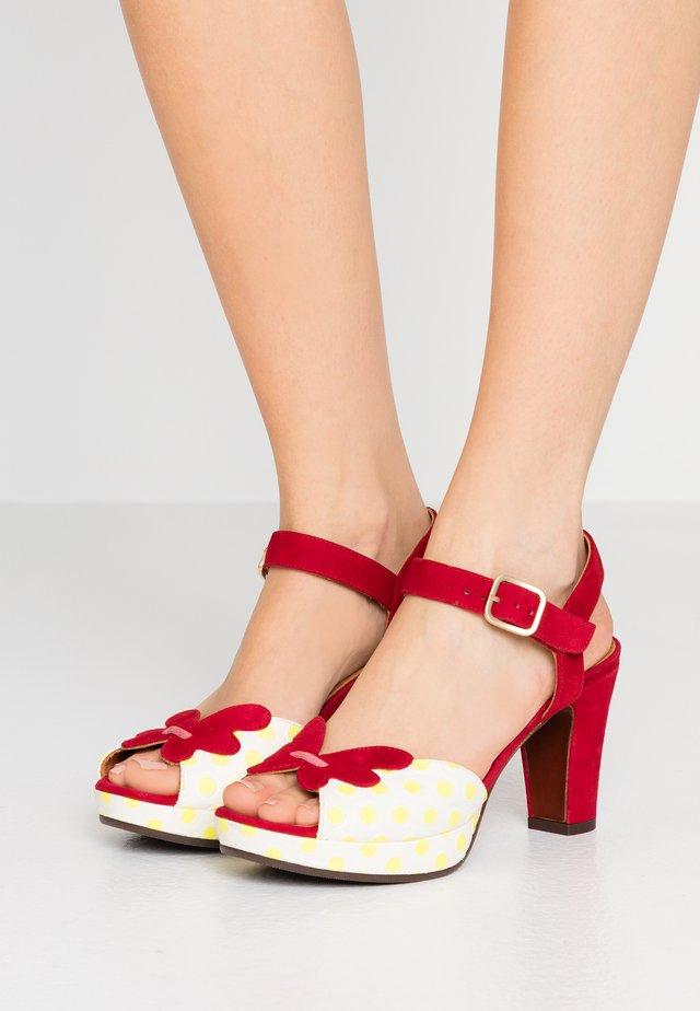 EDIT - Korolliset sandaalit - luna sun/rojo/cherry