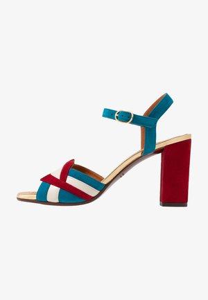 BATILO - High heeled sandals - rojo/freya leche/blue/shaddai oro