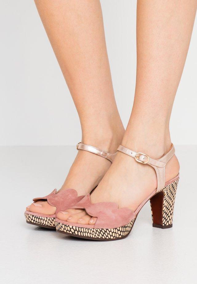 EDELIRA - High heeled sandals - shaddai nude/kassy natur/vintage
