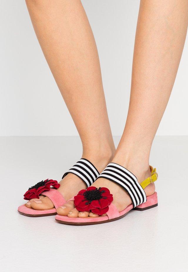 TIDA - Sandals - cherry/rojo/curry