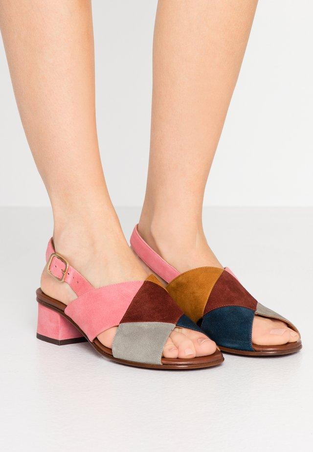 QUIRITA - Sandals - indigo/terra/cherry/cognac/cemente