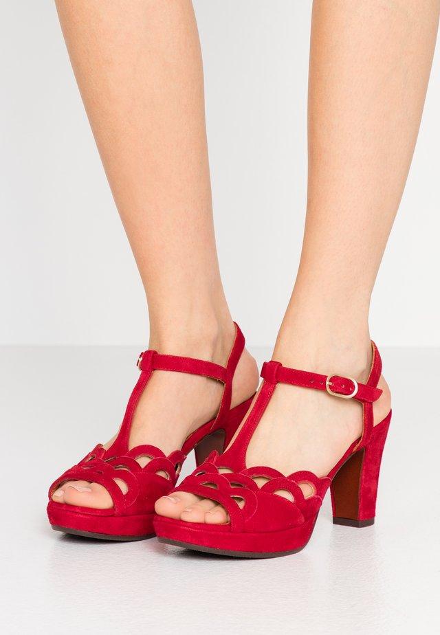 EMAL - High heeled sandals - rojo