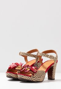 Chie Mihara - EKUNE - High heeled sandals - natur/rojo - 4